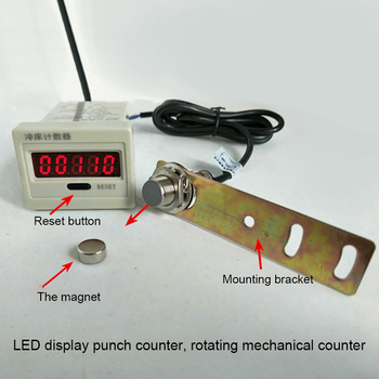 Digital Counter Display | LED Punch Counter Digital Display Reciprocating / Rotating Mechanical Counting Magnetic Induction Electronic Counter