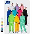 Инфляция сплошной цвет Толстовка и набор свитеров Пара Свободного Покроя Толстовка Спортивная одежда мужской комплект уличная одежда
