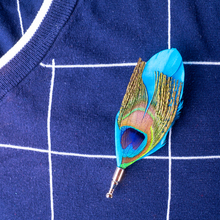 High Quality Peacock Feather Brooch Handmade Romantic Lapel Pin Men Suit Dress Wedding Gift