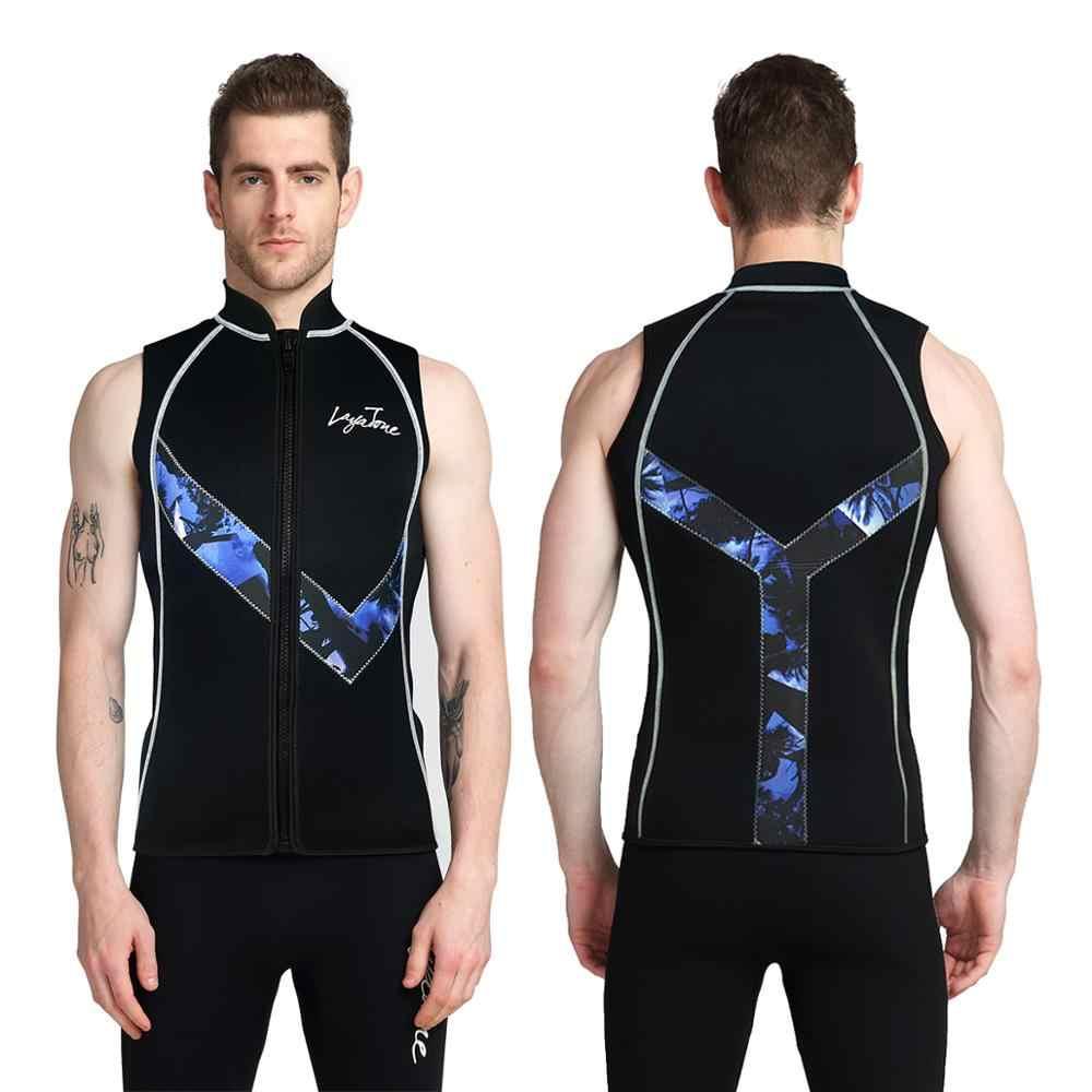 LayaTone 3mm neopren Wetsuit yelek erkekler dalgıç kıyafeti yelek kolsuz kano sörf dalış balıkçılık koşu kayak üst yelek