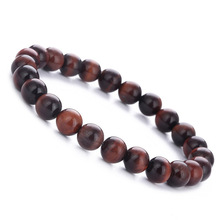 Smooth 8MM Tigereye Bead Bracelet for Men Women Natural Stone Charm Elastic Hand Jewelry Gift DropShipping