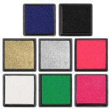 Fingerprint Square Inkpad for DIY Scrapbook Card Paper Craft Making Stamp Dark Blue Black Gold Silver Pink White Green Rose