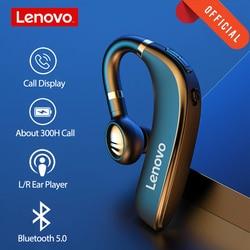 Lenovo HX106 Wireless Headphone Ear Hook Business Single Ear Earphone Bluetooth 5.0  Capacity Headset with Mic