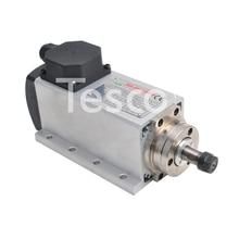цена на CNC Spindle 1.5KW SquarAir Cooled Spindle ER11 Milling Motor Machine 220V VFD Inverter Converter 13pcs ER11 Collet For Engraving