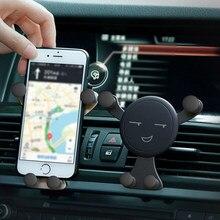 Suporte ajustável do suporte do telefone móvel suporte do suporte do telefone celular gps do suporte da gravidade dos desenhos animados do respiradouro de ar do carro