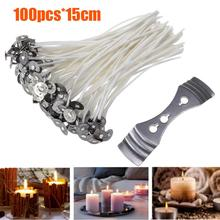 Bracket Wick-Holder Candle-Wicks Core 40-Thick Natural Cotton 100pcs with for DIY 21-Yarn