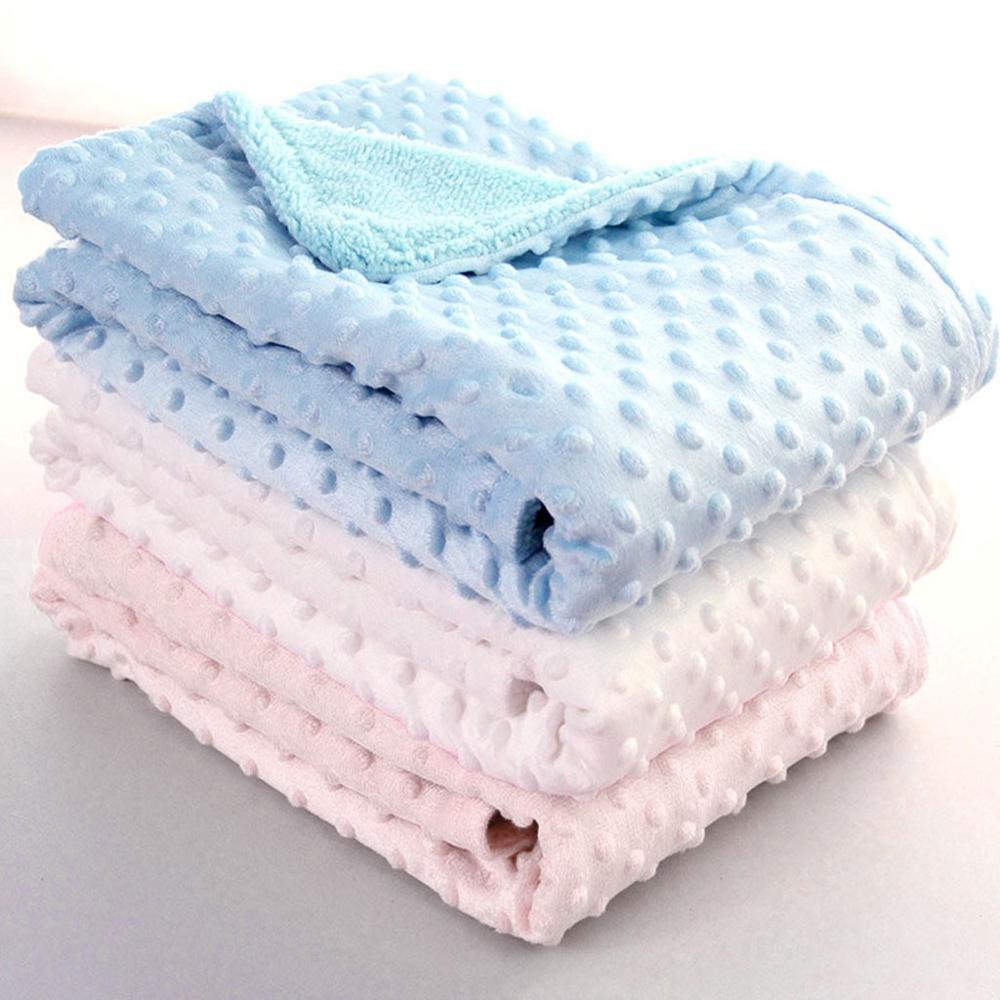 Baby Blanket & Swaddling Newborn Thermal Soft Fleece Blanket Solid Bedding Set Cotton Quilt  Infant Swaddle Kids Inbakeren