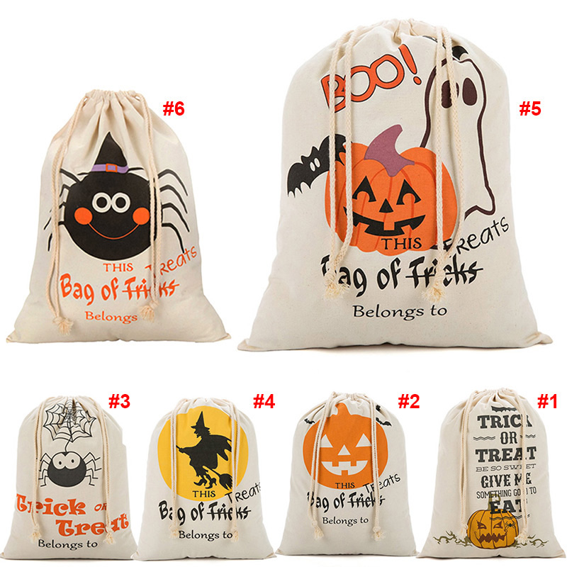 Cute Pumpkin Candy Bag Funny Halloween Gift Bags Holiday Supplies Creative Trick or Treat Bag Goodie Storage Holder For Kids