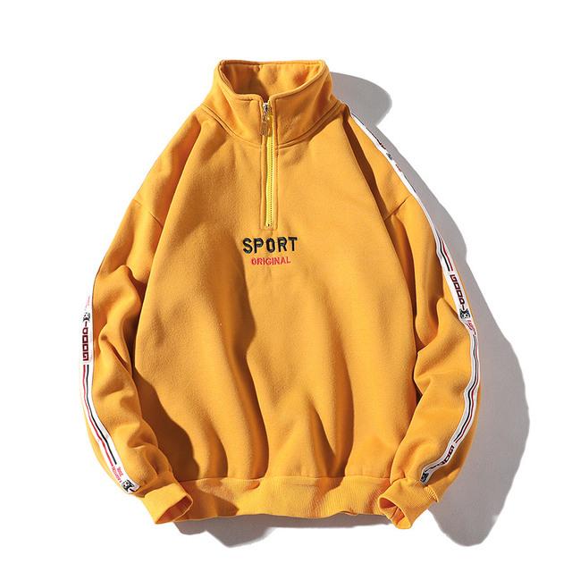 Men Hoodies New Hip-Hop Zipper Design Sweatshirt Embroidery High Quality Streetwear Cotton Retro Couple Pullover Tracksuit Men