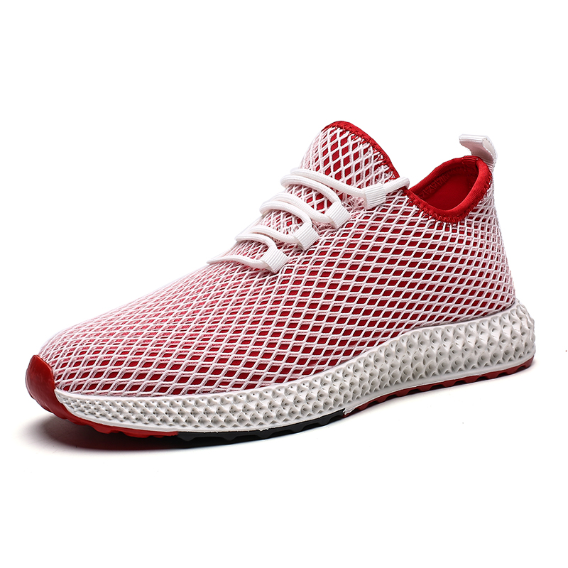 Monerffi Men Shoes Sneakers Flats Mesh Summer Man Breathable Running