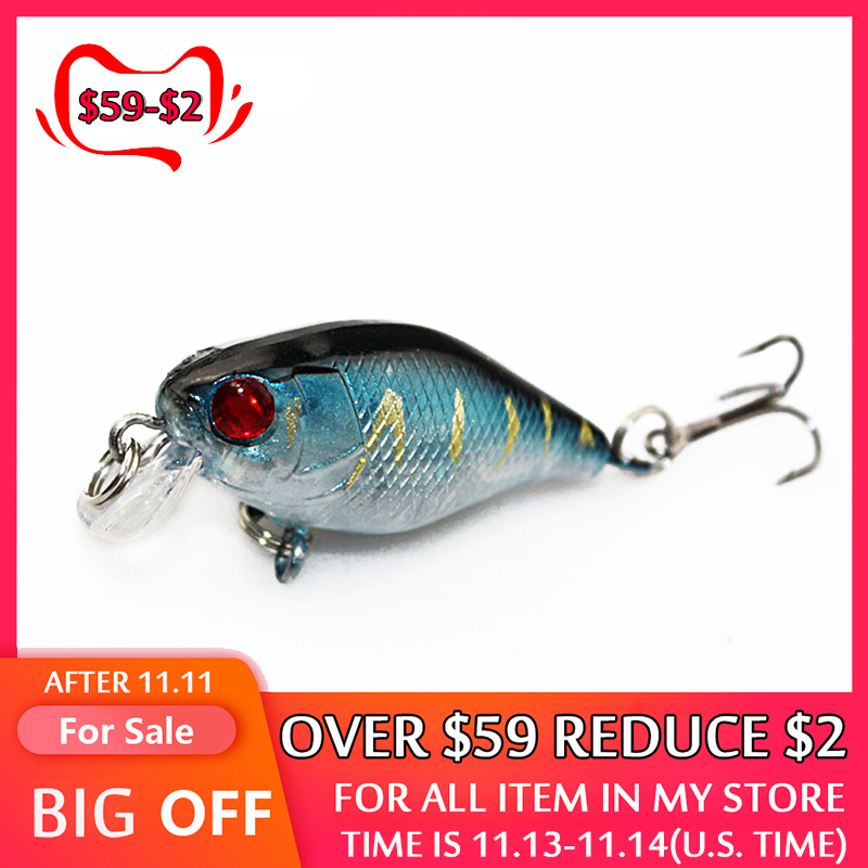 4cm 4.2g Flash Swim Fishing Lure Artificial Hard Crank Bait Wobblers japan Mini Fishing Crankbait lure Pesca