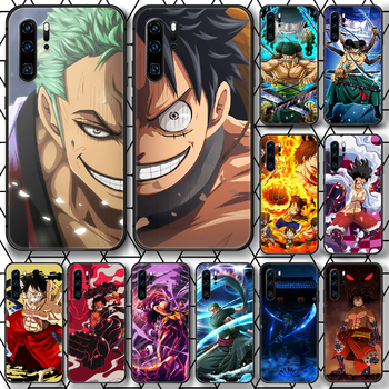 One Piece Luffy Sauron Phone case For Huawei P Mate Smart 10 20 30 40 Lite Z 2019 Pro black back soft cell cover tpu coque 3D image