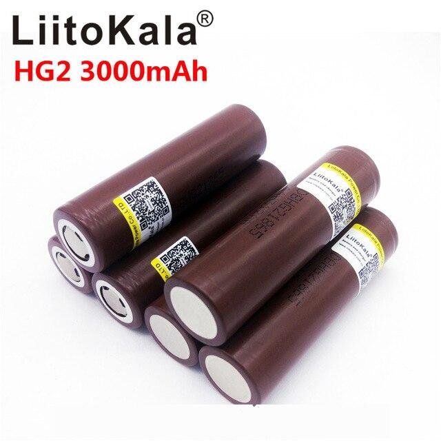 LiitoKala pilas recargables de alta descarga, 9 unids/lote, lii 30A, HG2, 18650, 3000mah, gran corriente, 30A