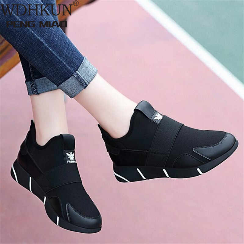 2019 Women Sneakers Vulcanized Shoes Ladies Casual Shoes Breathable Walking Mesh Flats Large Size Couple Shoes size35-42