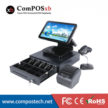 High quality 15.6 inch flat touch screen possystems all in one touch screen pos set