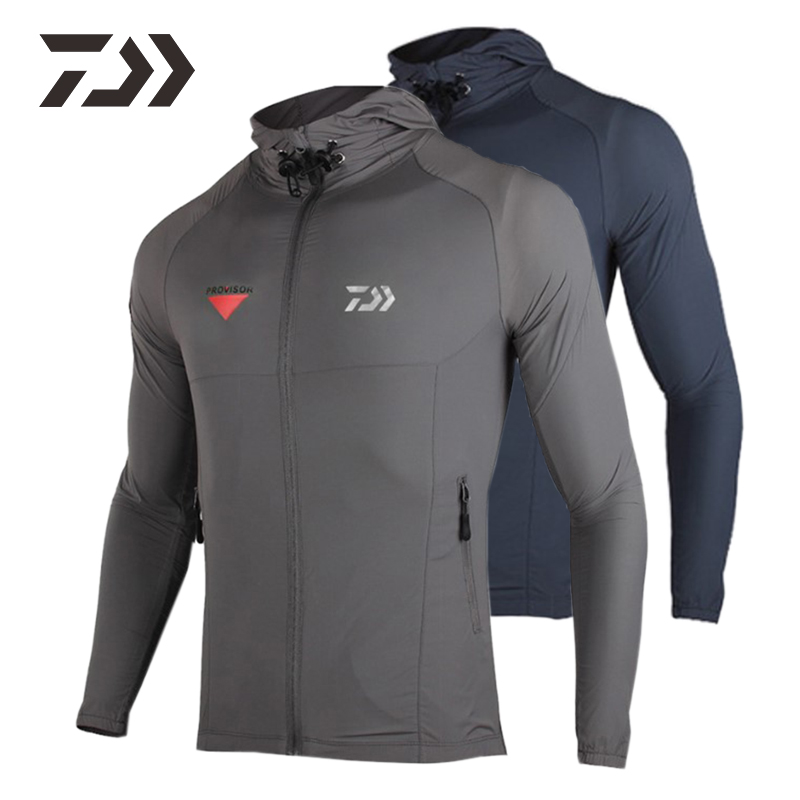 Daiwa Jacket Spring Fishing Jacket Waterproof Fishing Clothing Men Thin UV Protection Fishing Clothes Windbreaker Fishing Coat
