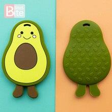 1PC Baby Teether Avocado Food Grade Silicone Teething Pendant DIY Baby