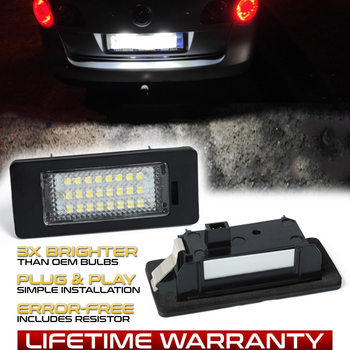 цена на LED Number License Plate Light Lamp For VW Golf 6 7 Variant Plus Alltrack Sportsvan Jetta Passat Caddy Polo Sharan Tiguan Touran