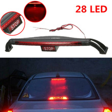DC 12V Red 28 LEDs Brake Lamp Plastic Car motorcycle SUV Safety Signal Tail Light High-Mount LED
