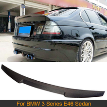 Car Rear Trunk Spoiler Wing for BMW 3 Series E46 Base M3 Sedan 4 Door 1998-2005 Rear Trunk Boot Lip Wing Spoiler Carbon Fiber