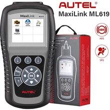 Autel maxilink ml619 pode obd2 scanner abs srs airbag automotivo carro ferramenta de diagnóstico eobd obdii leitor código pk al619 al319