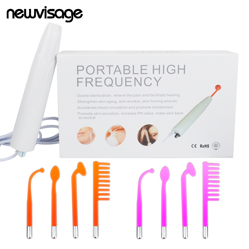High Frequency Machine For Acne Violet Ray Electrode Facial Body Skin Pore Tightening Wrinkles Fine Lines Remover Spa Salon Tool