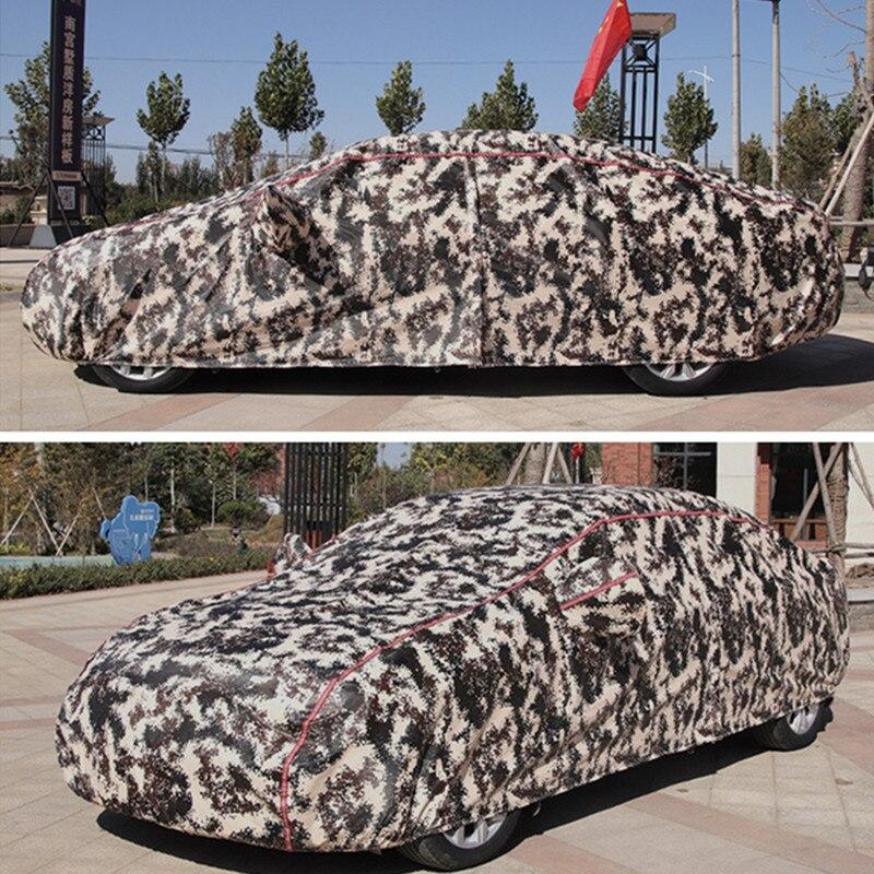 Cubierta de invierno para coche cubierta impermeable espesamiento de la nieve cubierta universal de cristal para coche al aire libre anti lluvia funda para el coche - 5