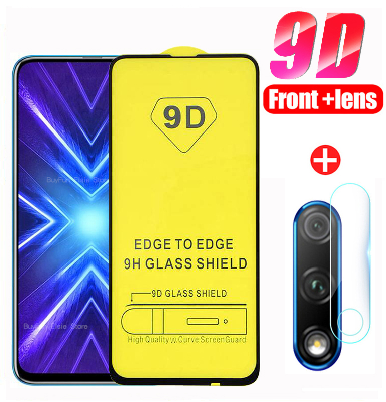 2-in-1 Protective Glass For Huawei  Honor 9x Stk-lx1 Global Camera Lens Film Screen Protector On Honer Honor 9x 9 X Premium X9