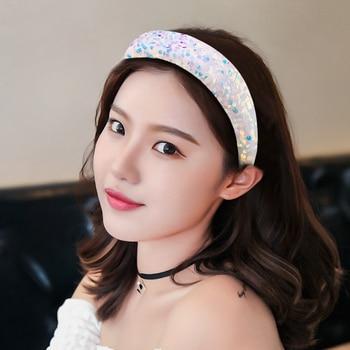Fabric Shiny Sequin Hairband  6