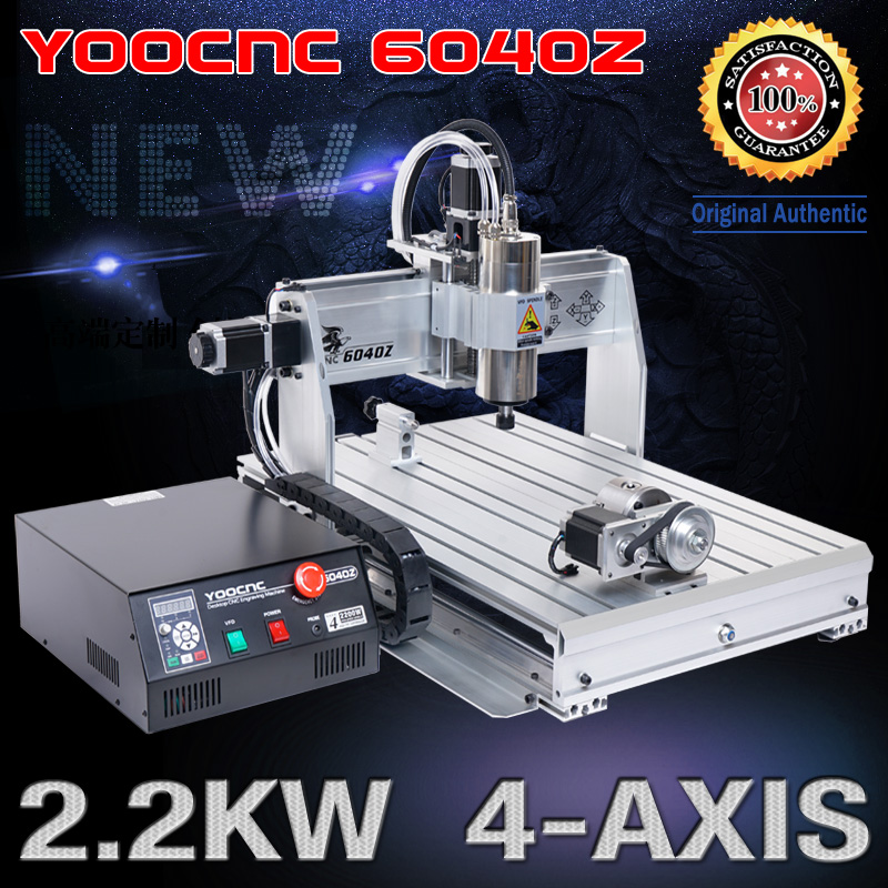 <font><b>CNC</b></font> USB <font><b>6040</b></font> <font><b>4</b></font> <font><b>axis</b></font> 2.2KW <font><b>CNC</b></font> router wood cutting machine woodworking milling engraving machine <font><b>cnc</b></font> engraver mach3 control+bit image