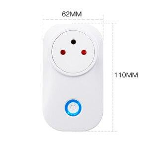 Image 4 - Frankever tuya nuvem 10a 16a wifi inteligente tomada de energia israel monitor sem fio plug trabalho com alexa google casa inteligente doméstico