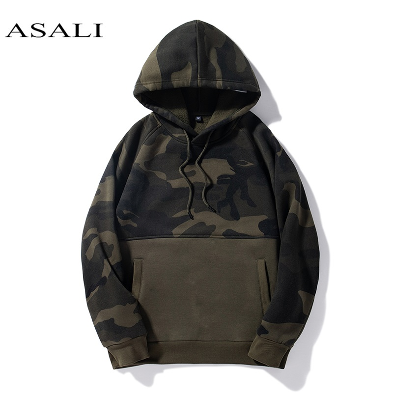 Men Hoodies Camo Sweatshirts Hoodie Solid Red Black Us Size Hooded Unisex 2019 Hip Hop Mens Patchwork Trendy Students Pullovers