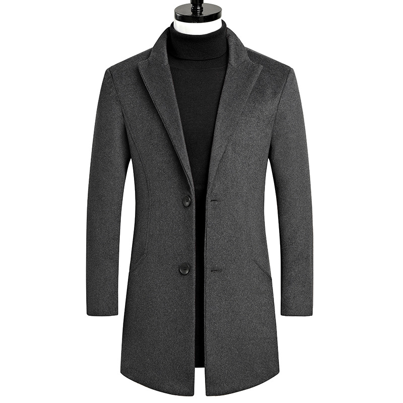 Wool Coat Men Wool Blends Coats Autumn Winter New Solid Color High Quality Men's Wool Jacket Luxurious Brand Clothing Sweaters
