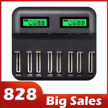 8 Slots Lcd Display Usb Smart Battery Charger For Aa Aaa Sc C D Size Rechargeable Battery 1.2V Ni Mh Ni Cd Quick Charger Hot