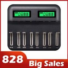 8 khe Màn Hình Hiển Thị LCD USB Thông Minh Sạc Pin Cho Pin AA AAA SC C D Kích Thước Pin Sạc 1.2V Ni MH NI CD Bộ Sạc Hot