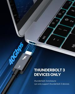 Image 5 - ORICO Thunderbolt 3 40Gbps M.2 NVME SSD Enclosure 2TB Transparent USB C SSD Case with 40Gbps C to C Cable For Mac Windows