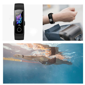 Image 4 - سوار معصم ذكي 5 من Honor Band مزود بمراقب للسباحة والسباحة والكشف عن معدل نبض القلب وقفوة للنوم وشاشة ملونة AMOLED 0.95 بوصة