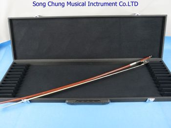 Strong black violin bow case for 12 bow holders