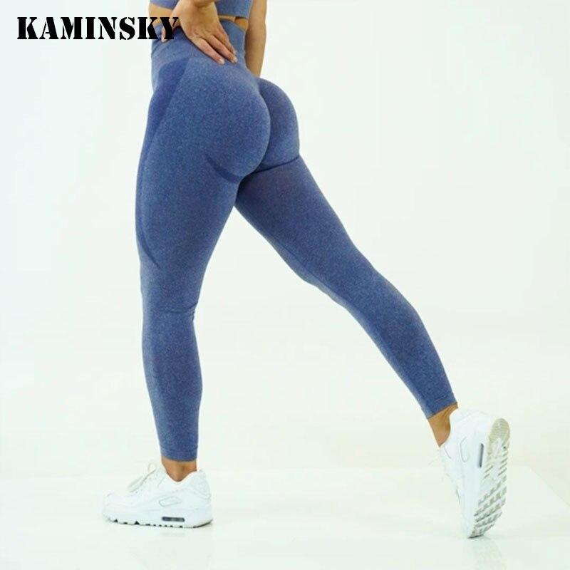 Kaminsky Fitness Push Up Legging Women Gym Seamless Training Leggings Casual Workout High Waist Leggins Women High Elastic Pants|Leggings|   - AliExpress