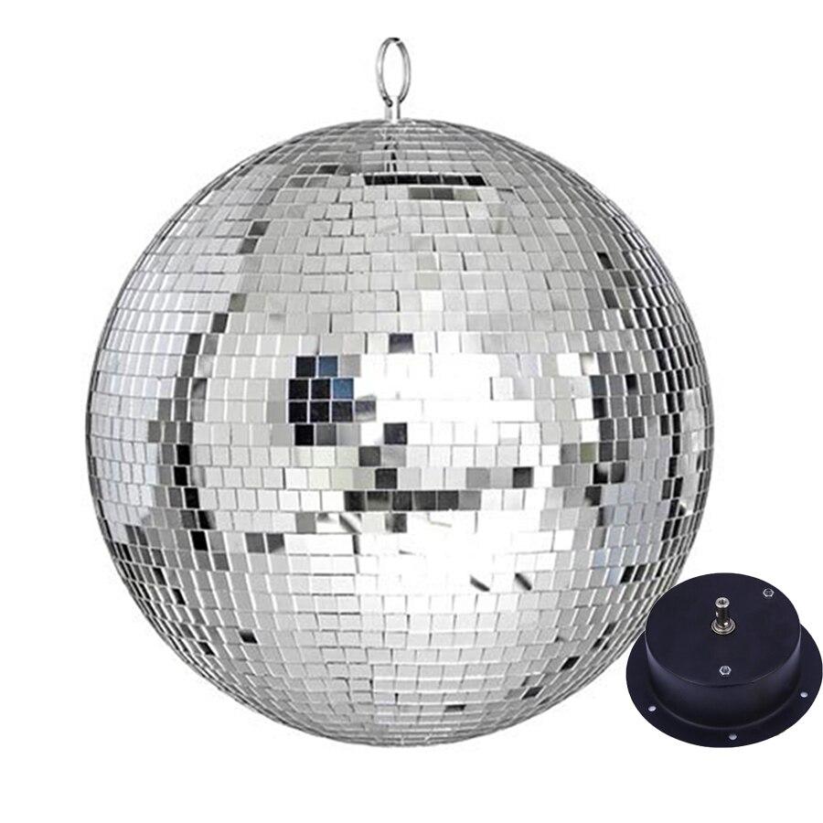 Thrisdar Dia15CM 20 см 25 см серебряное отражающее зеркало диско шар светильник с мотором Свадебная вечеринка праздник Рождество KTV бар светильники