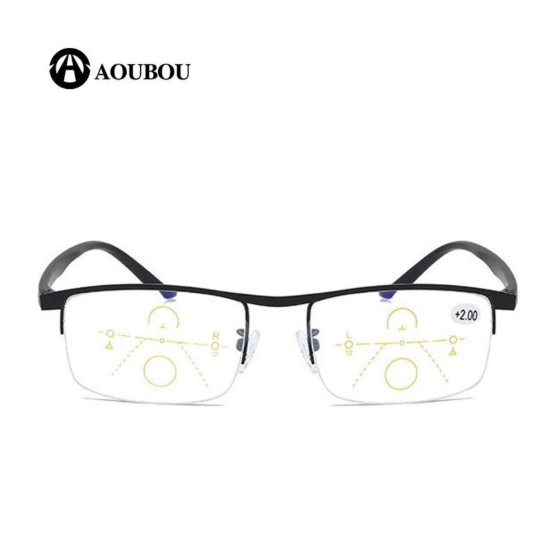Image 5 - Progressive Multifocal Reading glasses Anti blue light Look far Look in the middle Look near Multifunction eyebrow Retro  RetroWomens Blue Light Blocking Glasses   -