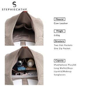 Image 2 - Scブランド高品質の牛革ショルダーバッグ女性のファッションタッセルデザイン女性ラージホーボー本革女性のハンドバッグ