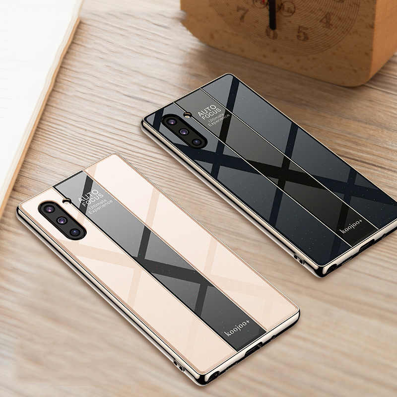 Cases For Samsung Galaxy Note 10 Note 10 Plus 5g Case Plexiglass Shockproof Soft Bumper Cover For Samsung Note10 10 Plus Funda Fitted Cases Aliexpress