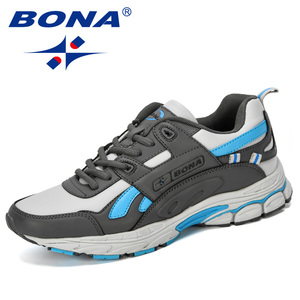 Image 5 - BONA  New Designer Men Cow Split Running Shoes Sports Outdoor Comfortable Man Sneakers Walking Athletic Footwear Trendy Shoe