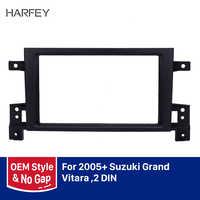 Harfey 2din estéreo rádio fascia 173*98mm painel quadro para 2005 2006-2014 suzuki grand vitara gps autoradio painel montagem kit