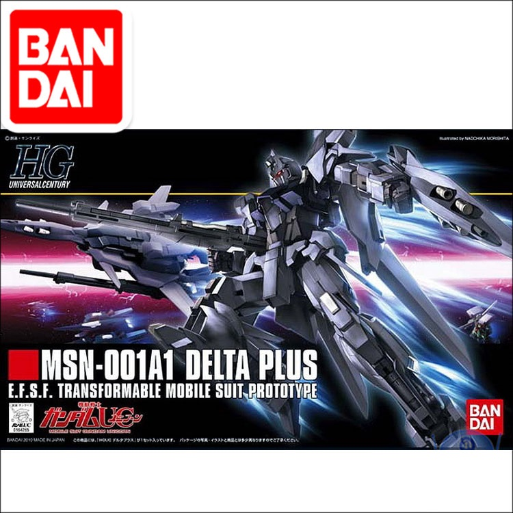 Original HG 1/144  Gundam Model MSN-001A1 DELTA Plus GUNDAM Japanese Model Robot Mobile Suit Kids Toys