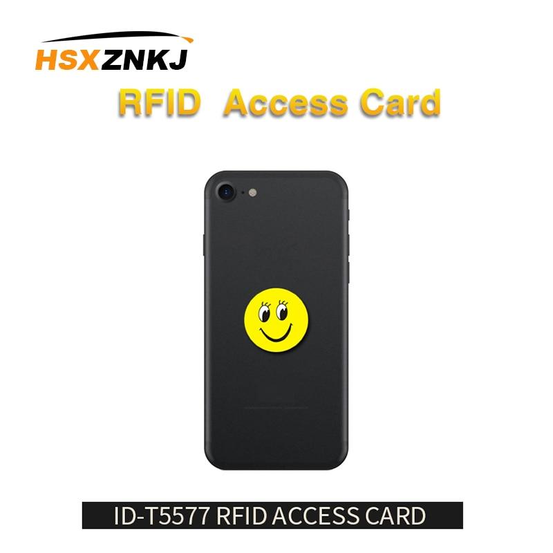 10pcs/lot RFID 125Khz T5577 Writable EM4305 Anti Metal Interference Cartoon Tags Stickers Proximity Card Label For RFID Copier