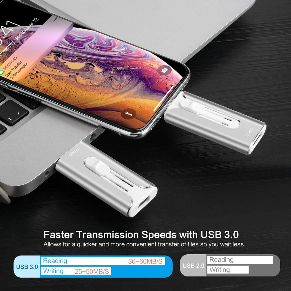 32GB 64GB 128GB 256GB 512GB Mini USB i-Flash Drive hd For iPhone iPad iPod iOS Android Devices Memory OTG Storage USB Stick  3.0 3