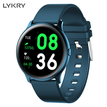 LYKRY NEW KW19 Smart watch Women Heart rate monitor Men Sport Smartwatch Message reminder Fitness tracker For Android and IOS