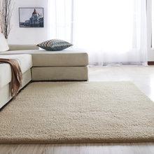 Скандинавский Пушистый Ковер коврики для спальни/гостиной прямоугольные